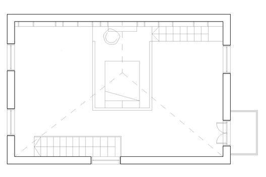 Loft Space in Camden,Roof Floor Plan