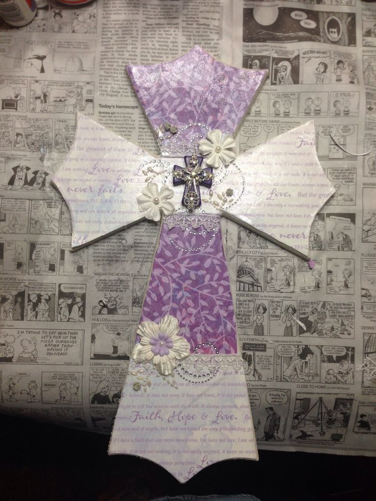 Faith, hope & love cross by Kim Collier