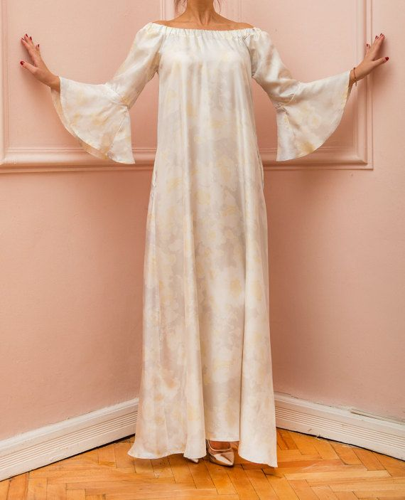 NEW SPRING 2016 Silk Maxi dress Ruffle by cherryblossomsdress