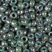 Toho 8/0 (3mm) Marbled Marine Blue/Green glass seed beads, colour number 1207. UK seller.