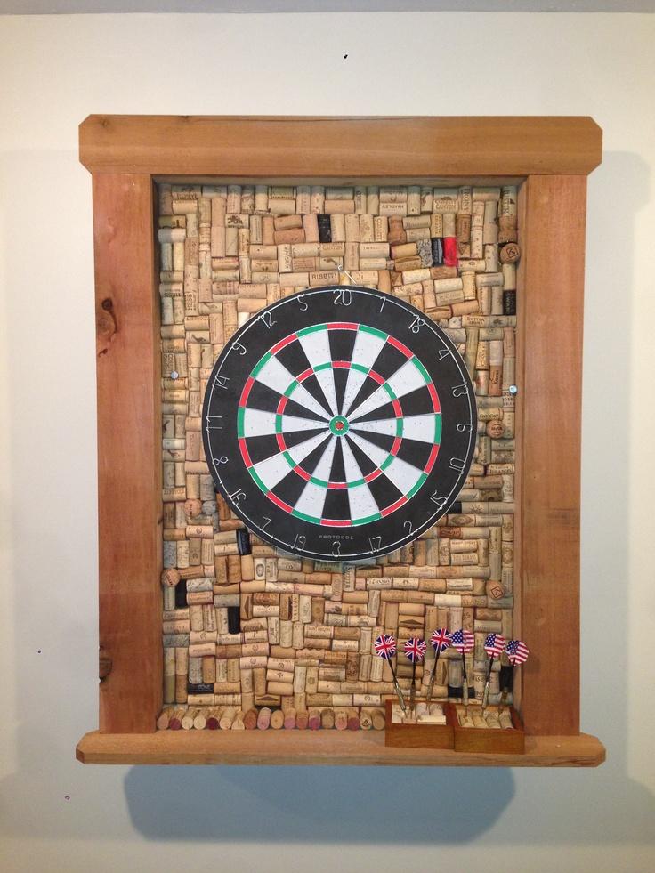 Dart Board Frame Made From Corks Home Pinterest