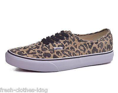 Vans Authentic Van Doren Leopard Black Classic Low Top Shoes Size 10
