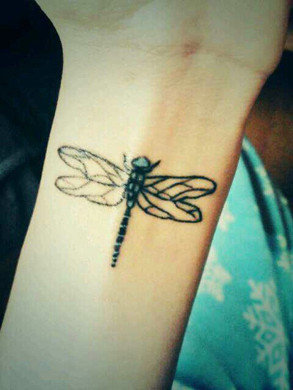 Dragonfly tattoo on back - 50+ Dragonfly Tattoos for Women