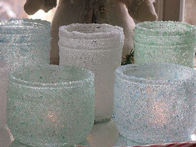 epsom salt luminaries: great for a hand made gift!