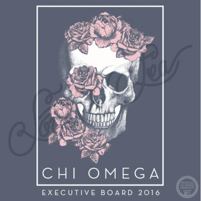 Chi Omega   Chi O   Executive Board   Skull T-Shirt Design   South by Sea…