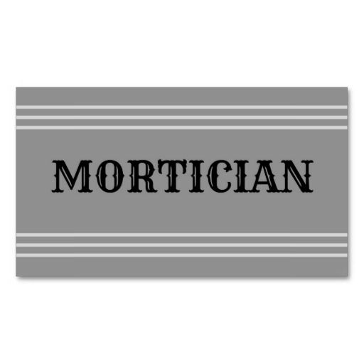 152 Best Mortician Business Cards Images On Pinterest