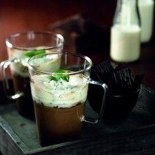 Chocoladekoffie met muntcrème