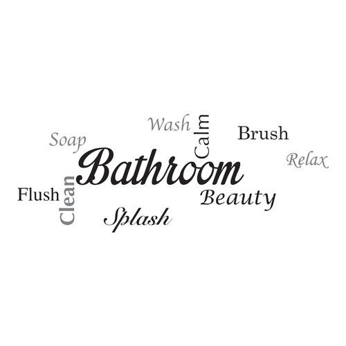 WallPops! Home Decor Line Bathroom Quote Wall Decal