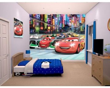 Racing To Win The Piston Cup Lightening Mcqueen And His Friend! This Wall  Mural Is Part 71