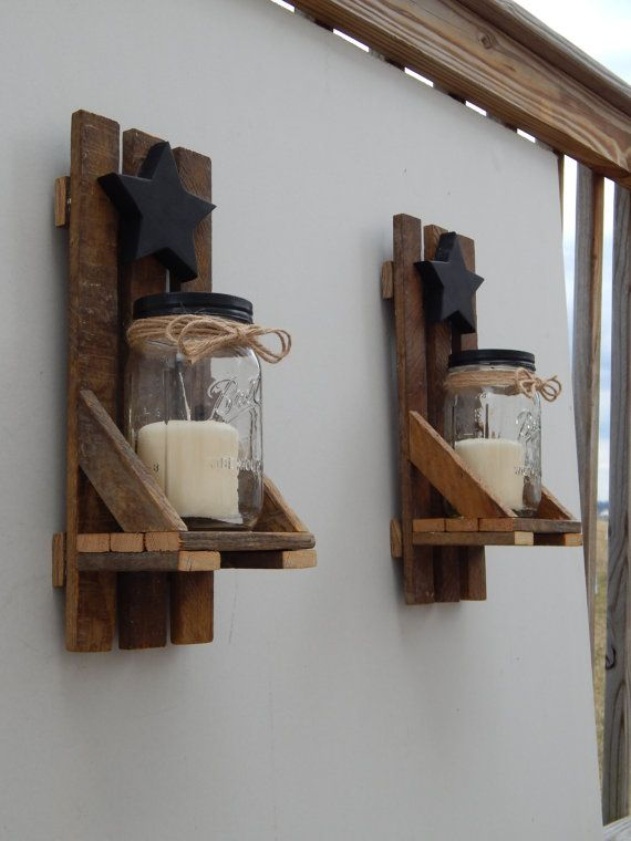 Check out this item in my Etsy shop https://www.etsy.com/listing/228175526/mason-jar-candle-holder-wall-sconce-with