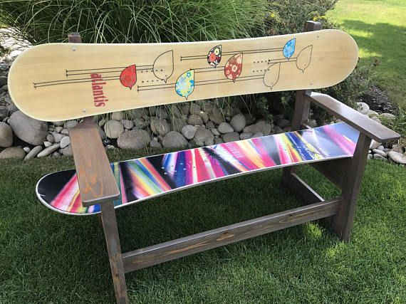 Stupendous Snowboard Bench Crosscut Design Co In 2019 Bench Machost Co Dining Chair Design Ideas Machostcouk