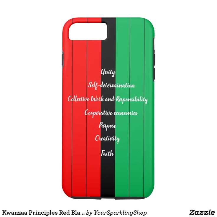 Kwanzaa Principles Red Black Green Stripes Pattern Case-Mate iPhone Case | Zazzle.com