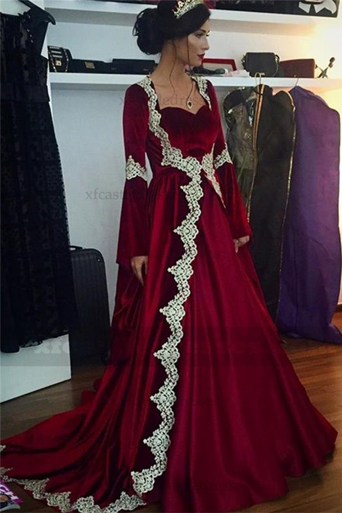 2ea82d0a02 Arabic Dubai Kaftan Long Sleeve Evening Dress MXN1537 | cheap ...