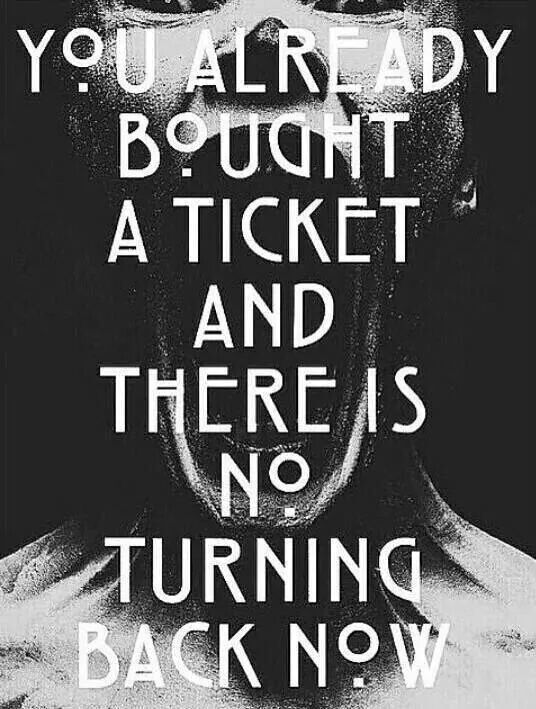 No turning back now!!!!!