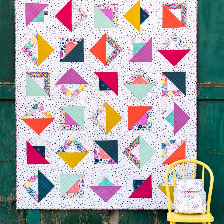 Chromatic Quilt by Holly deGroot Quilter's Cotton from Brush Strokes by Holly DeGroot for Cloud9 Fabrics