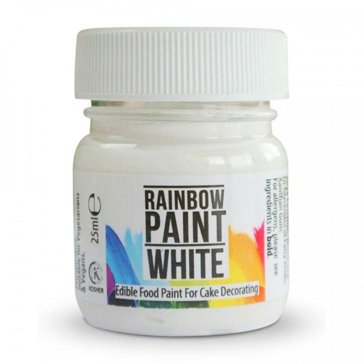 Pintura comestible blanca lista para usar 25 ml