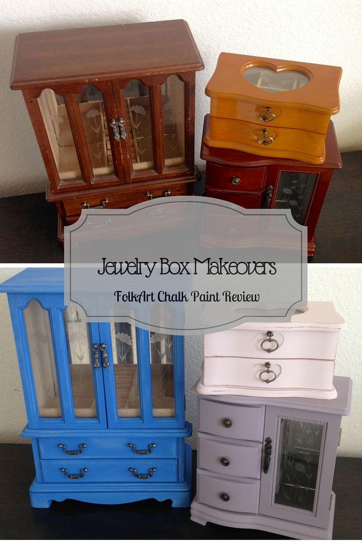 Jewelry Box Makeovers and FolkArt Chalk Paint