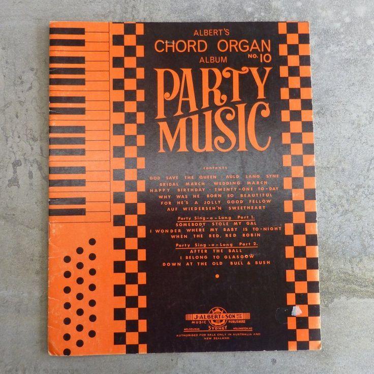 Vintage Albert's Chord Organ Album Party Music, No. 10. Copyright 1966 by J. Albert & Son Pty. Ltd.