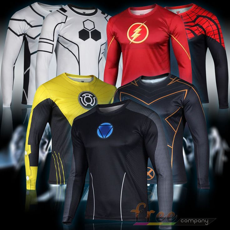 Superhero Costume Tee Captain America Spiderman Batman T-Shirt Sports Jersey #Unbranded #Tshirt