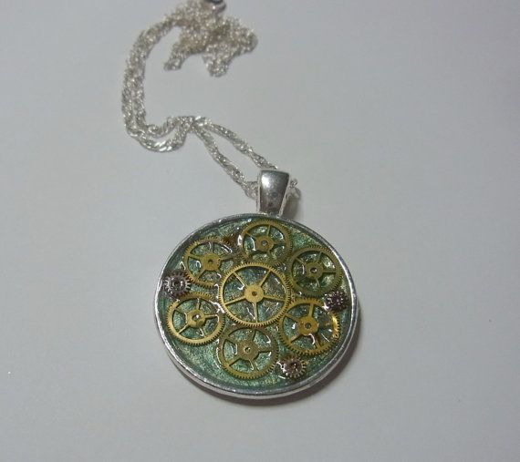 Steampunk Jewelry with style necklace pendant watch by eryka91