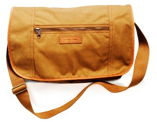 Sandstorm Satchel Bag  £135.00    Also available in green canvas and tan pull-up leather