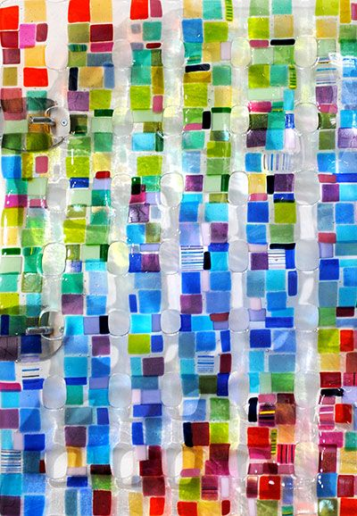 """""""Retro Mesh"""" 26x18"""" Glass Wall Hanging by Renato Foti. Available at Crescent Hill Gallery in Mississauga, ON"""