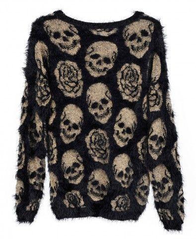 Skull mohair sweater