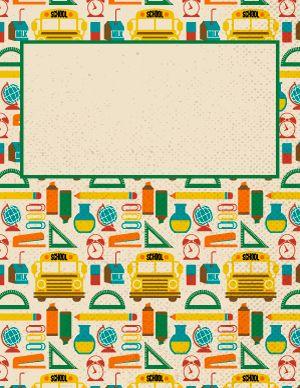 Retro School Binder Cover