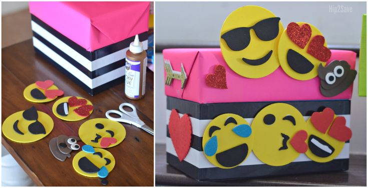 Get crafty and make this fun Monster themed or trendy Emoji themed Valentine's Day boxes with the kiddos!