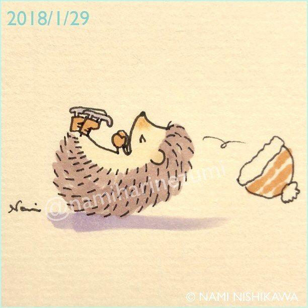 1396 #スケート 2 #skating 2 #illustration #hedgehog #イラスト #ハリネズミ #なみはりねずみ