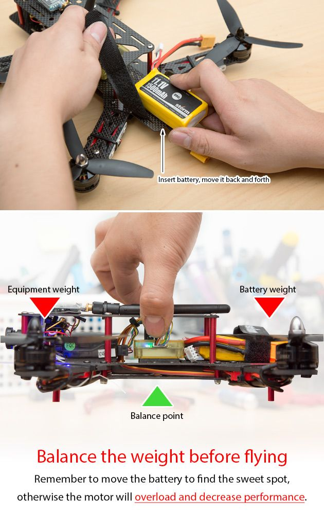 Remember to balance your drone before you flight  http://www.helipal.com/storm-racing-drone-rtf-type-a.html #QAV250