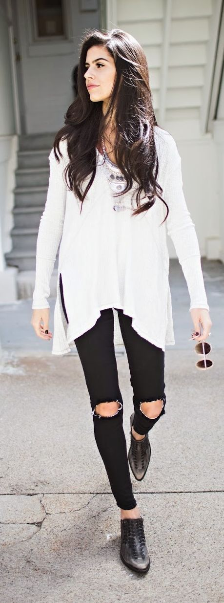 Teenage Fashion Blog: Light Layers | Long Sleeve Blouse with Boho Neckla...