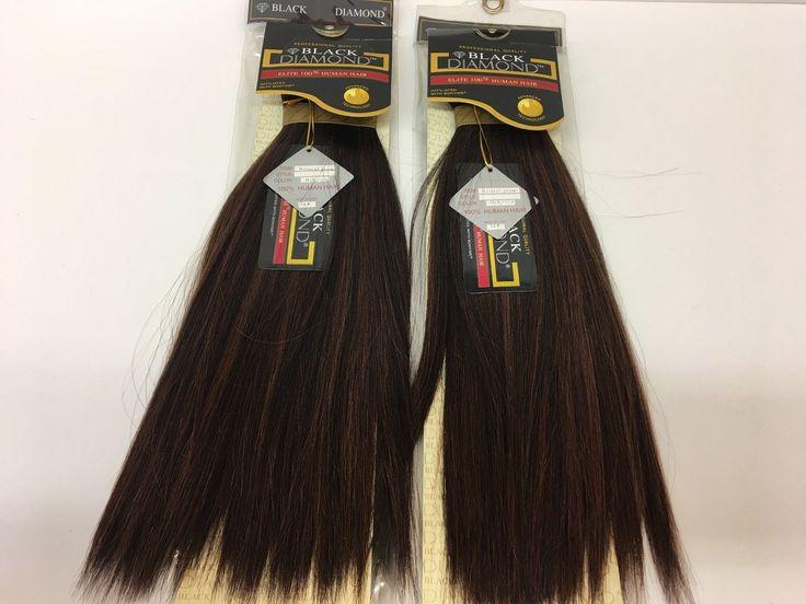 "2 Packs of BLACK DIAMOND Bohyme NATURAL PERM 100% REMI Human Hair 14"" - D1B/33"