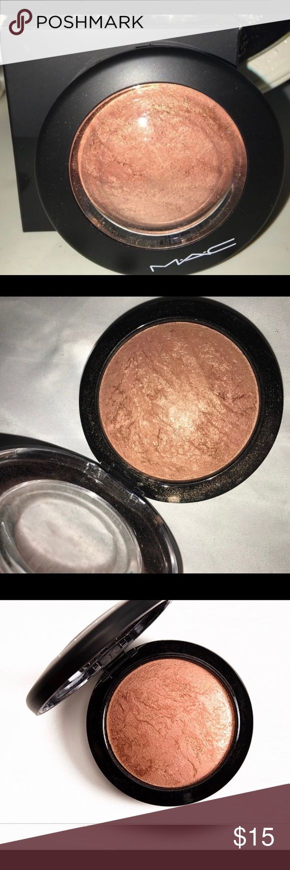 Mac cheeky bronze mineralize skinfinish Refurbished/ pre loved highlighter Soft coral with golden finish MAC Cosmetics Makeup Bronzer