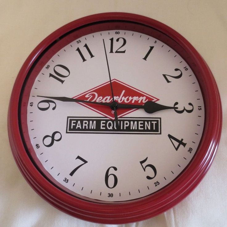 NEW FORD DEARBORN FARM EQUIPMENT LOGO WALL CLOCK LOGO USED 1947-1962 #Ford