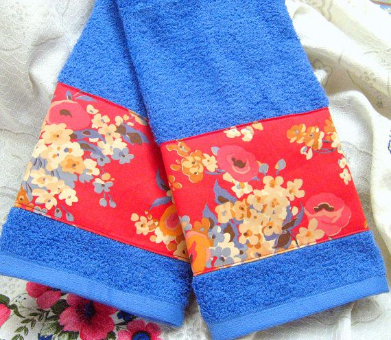Stocking Stuffers! MADELINE Custom Decorated Cream Hand Towels   Ralph by Sew1Pretty, $17.00