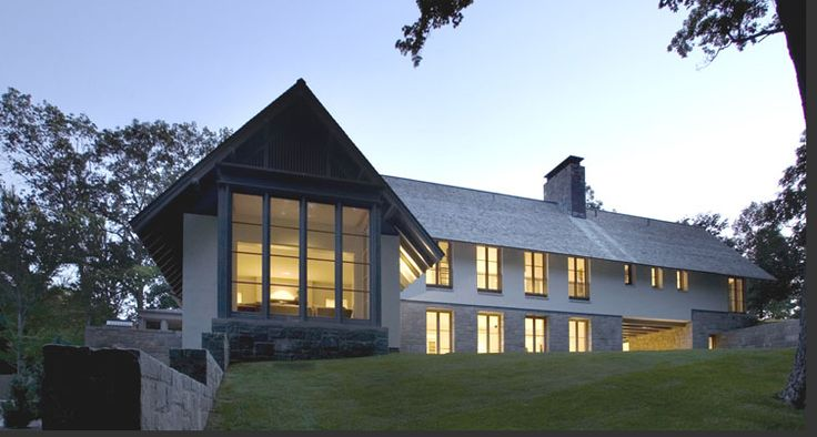 Modern shingle style house grade inspiration for Shingle style architecture