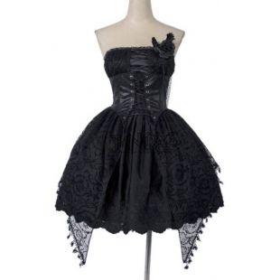 Elegant gothic lolita bustier dress