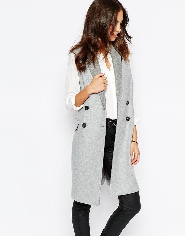 ASOS - New Look Premium - Manteau sans manches