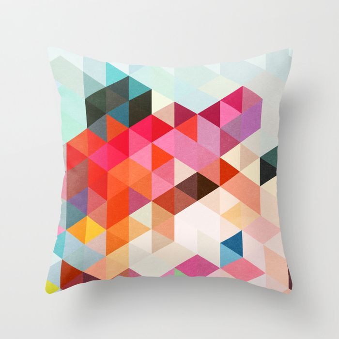 throw pillow by three of the possessed on society6