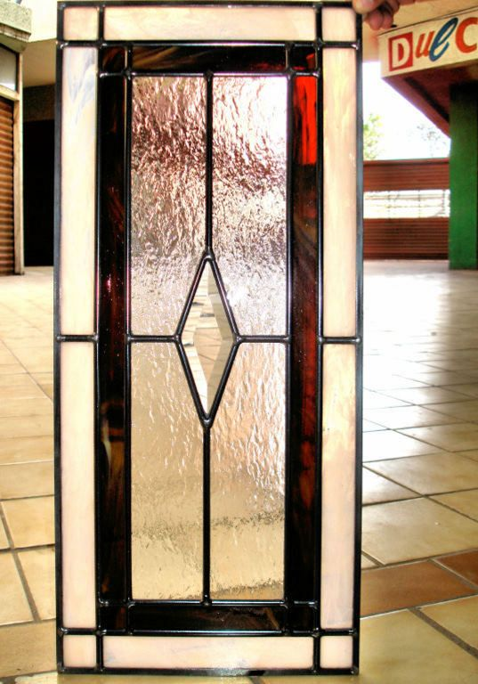 Leaded Glass Kitchen Cabinet Door Swap The Red For Gold Or Amber Color  Similar To Part 79