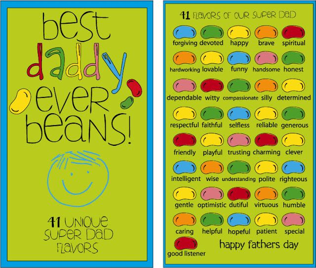best-daddy-ever-beans- My boss loves jelly beans so I ...