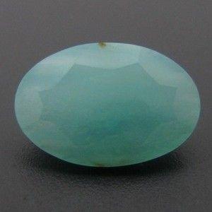 2.41ct FACETED Peruvian BLUE OPAL ~ Natural Color !  CABOCHON NATURAL BLUE OPAL FROM PERU GEMSTONE  FROM GEMROCKAUCTIONS.COM