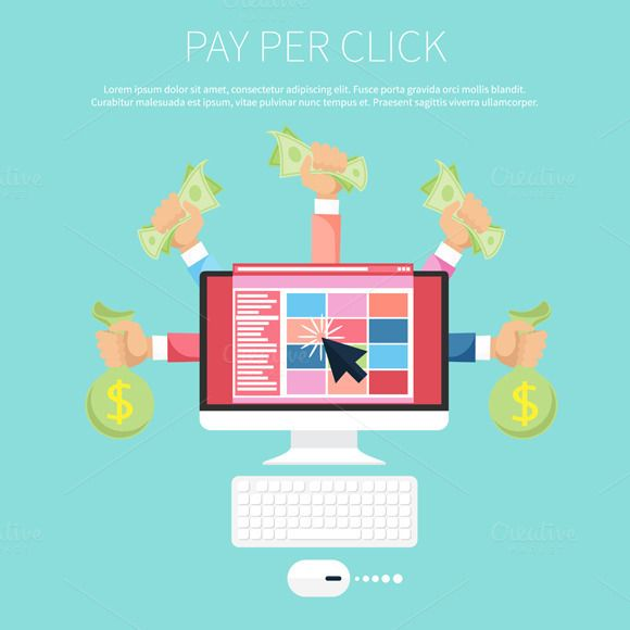 Pay Per Click Internet Advertising by robuart on Creative Market