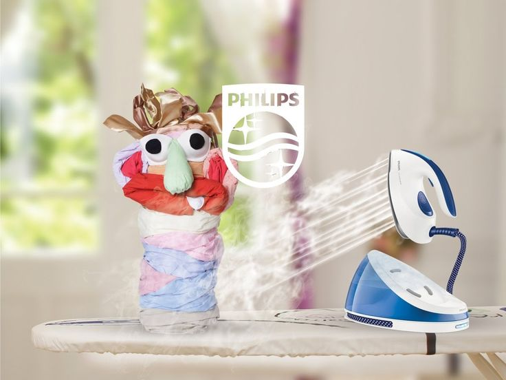Meet Dirty Shirty! This little monster that lives in every home is no match for #PhilipsPerfectCare!