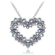 Stylish Tanzanite pendant with diamonds