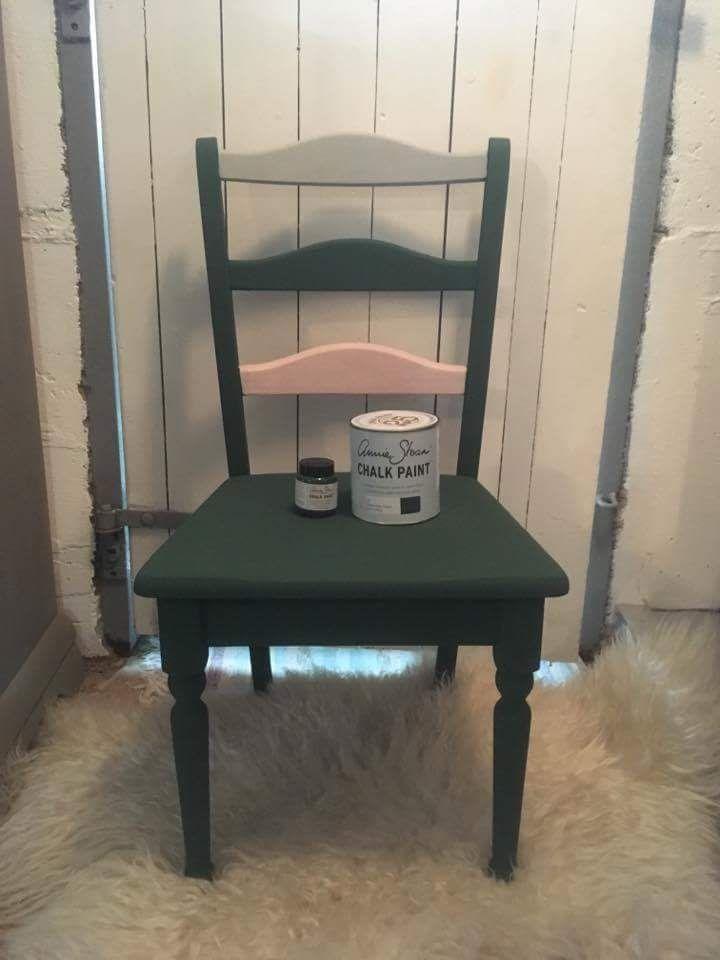 Den ny Amsterdam Grenn, testet på stol sammen med Antoinette og Paris Grey fra Annie Sloan Chalk Paint hos @LaveLykke