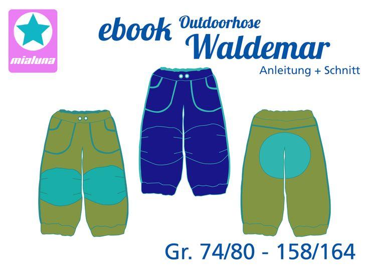 "ebook Outdoorhose Hose ""Waldemar""  Schnittmuster von mialuna auf DaWanda.com"