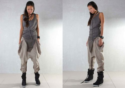 Demobaza SS13 Women Vest Basic GreyBaggy Baza Pockets.... apocalyptic fashion,post-apocalyptic/dystopian clothing, style and fashion, post-apocalypse