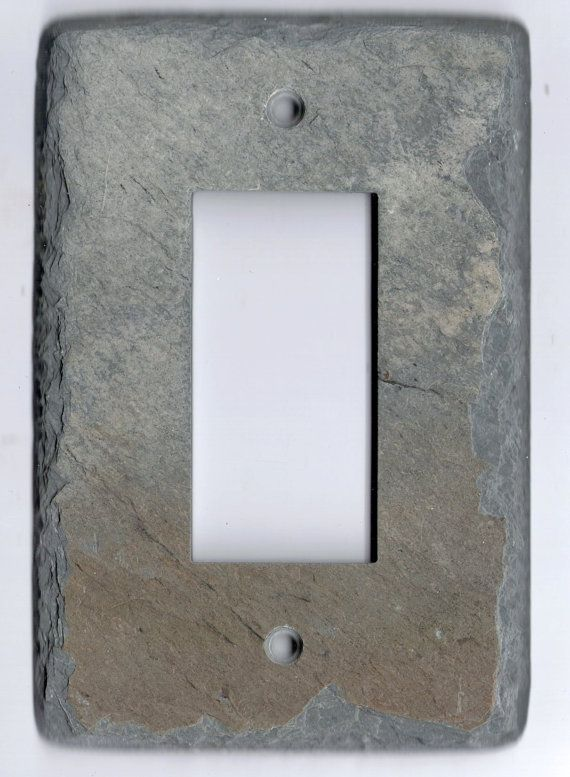 Recycled Slate Switchplate Switch Plate Outlet Cover Light
